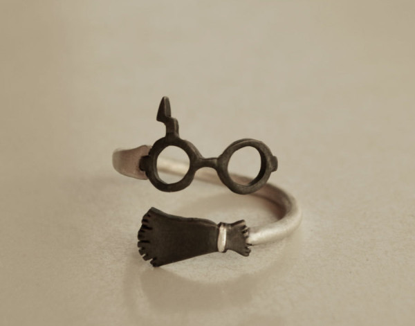 Glasses and Broom Ring
