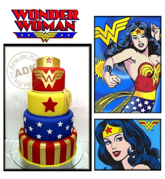 Arte da Ka Wonder Woman Cake