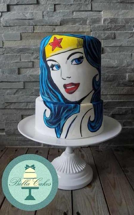 Bella Cakes Wonder Woman Cake