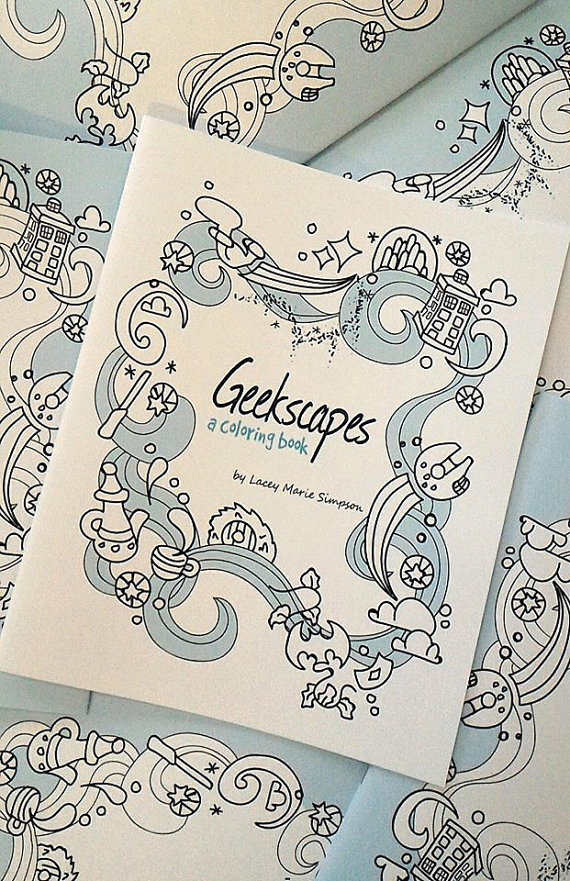 Geekscapes Coloring Book by Lacey Marie Simpson