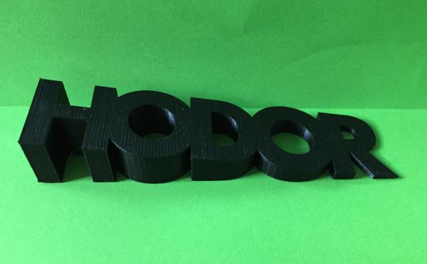 3D Printed Hodor Doorstop