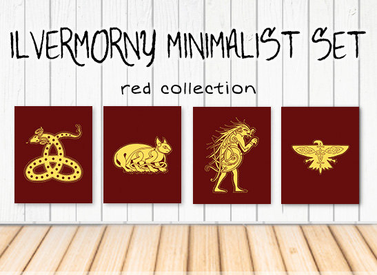 Ilvermorny Houses Art Set
