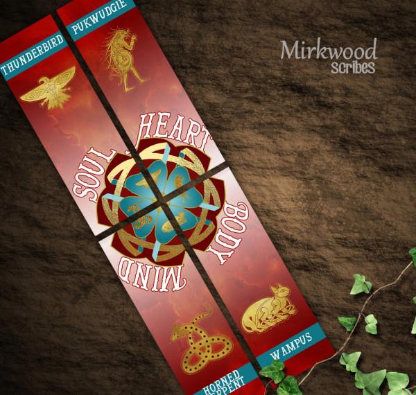 Ilvermorny House Bookmarks