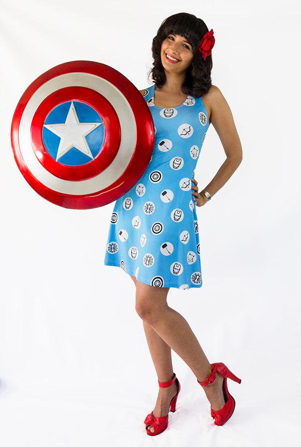 Blue Avengers Sleeveless Dress
