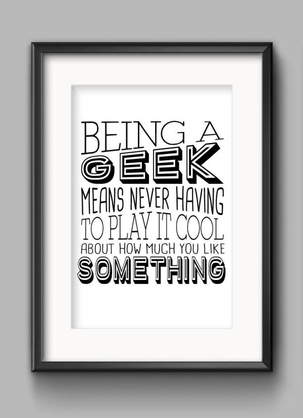 Being A Geek