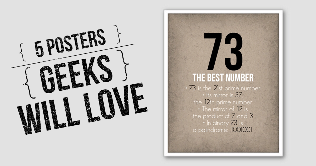 5 Posters Geeks Will Love