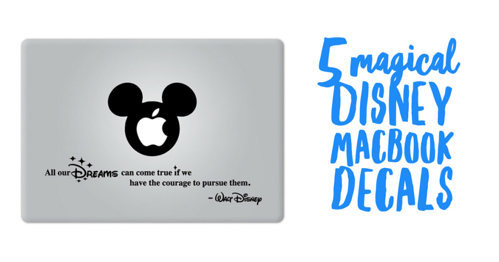 5 Magical Disney Macbook Decals