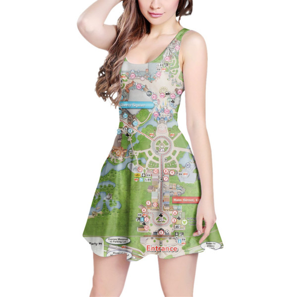 Disney Park Map Dress