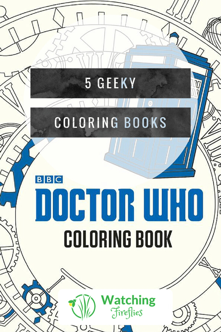 5 Geeky Coloring Books Pinterest