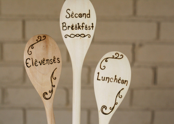 Hobbit Meal Time Wooden Spoons