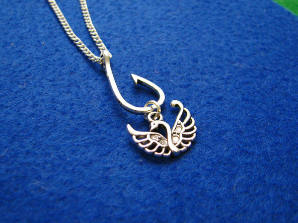 Hook and Swan Necklace