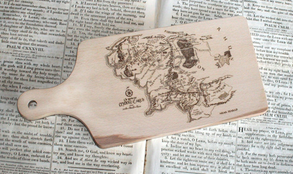 Middle Earth Map Cutting Board