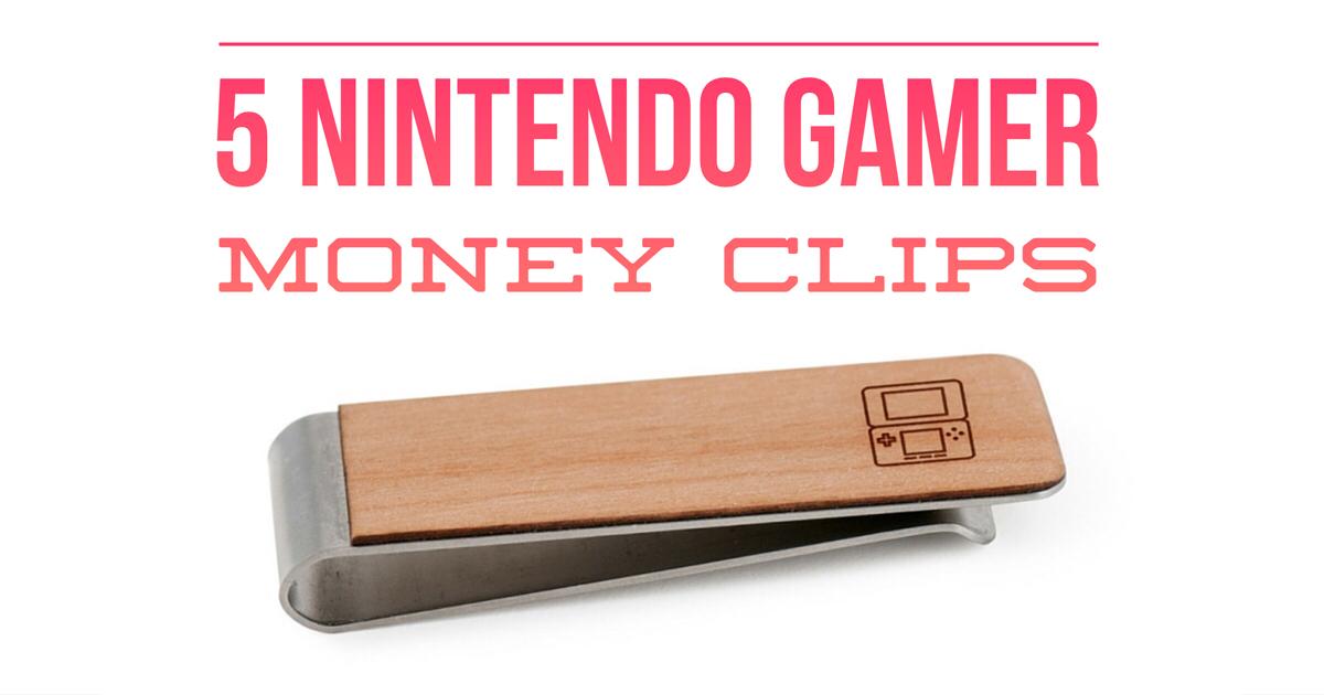 5 Nintendo Gamer Money Clips