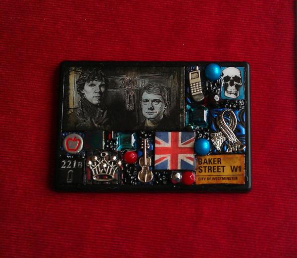 Sherlock Mosaic Fridge Magnet