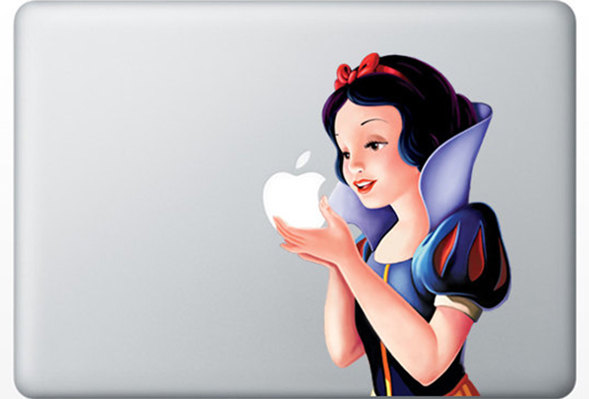 Snow White Apple Decal