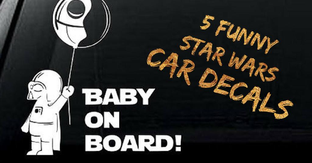5 Funny Star Wars Car Decals
