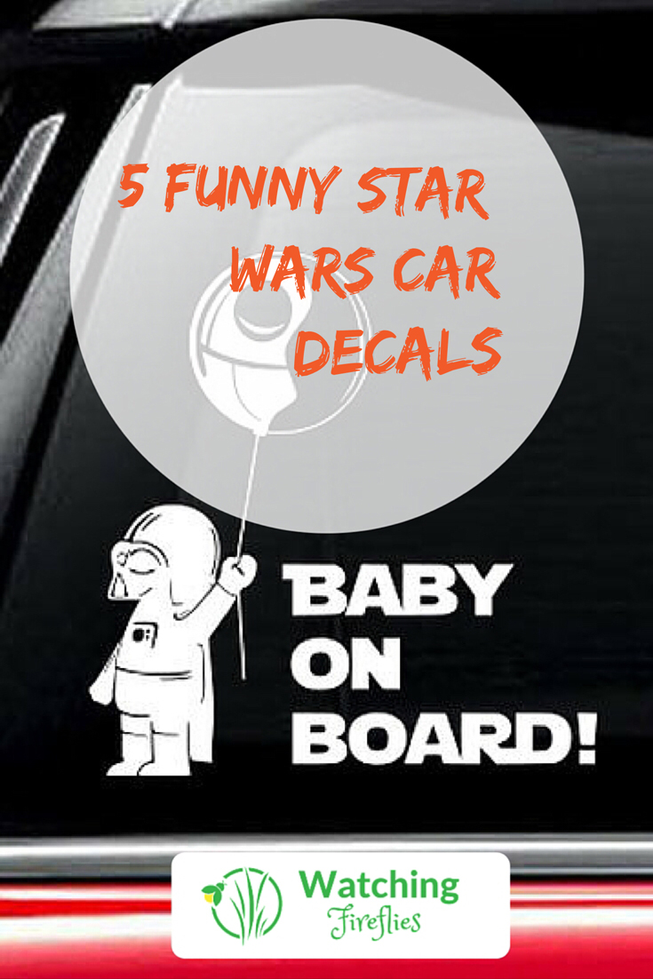 5 Funny Star Wars Car Decals