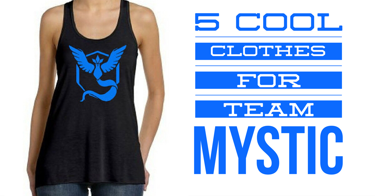 5 Cool Clothes for PokemonGo Team Mystic