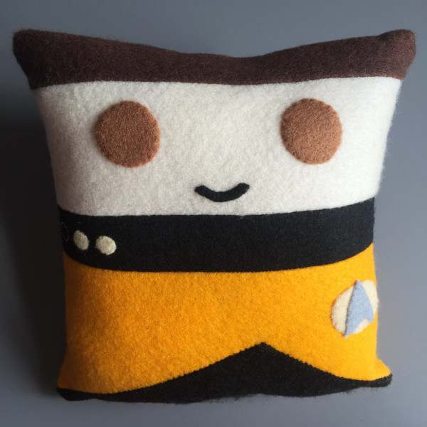 Commander Data Felt Pillow