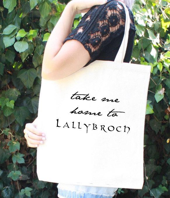 Outlander Fan Gift Take me home to Lallybroch Tote Bag Outlander Bag