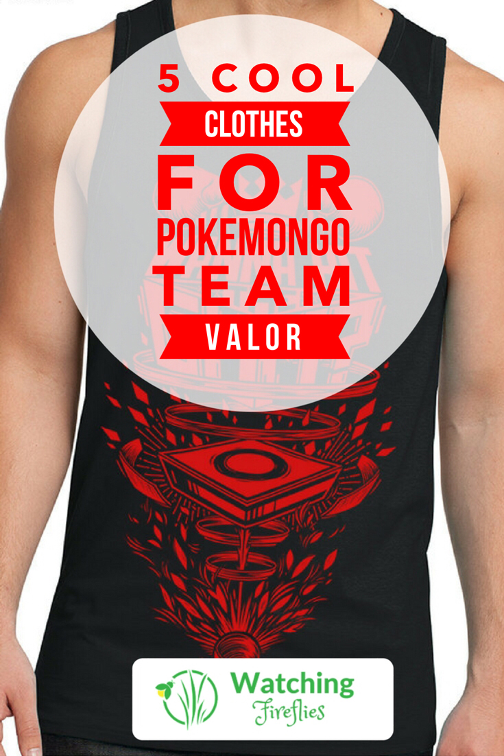 5 Cool Clothes for PokemonGo Team Valor