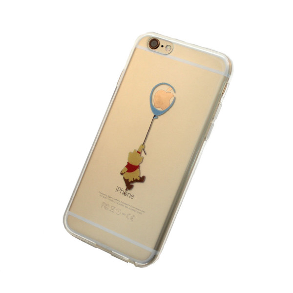 Pooh floating with a ballon iPhone Case