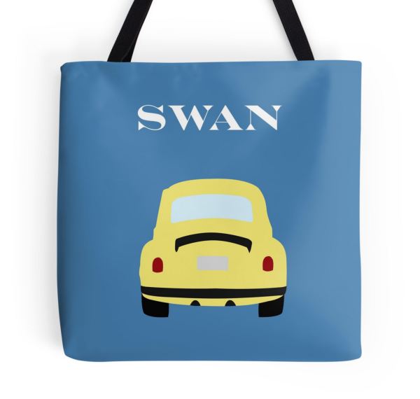 Once Swan Tote Bag