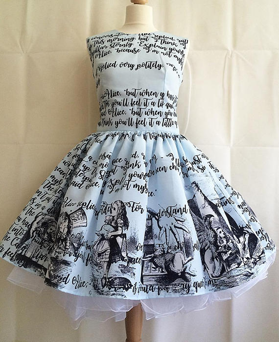 Alice in Wonderland Literature Dress