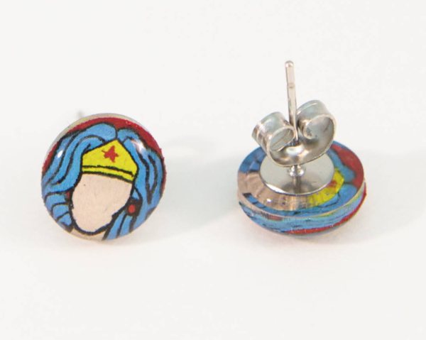 Hand Drawn Wonder Woman Studs