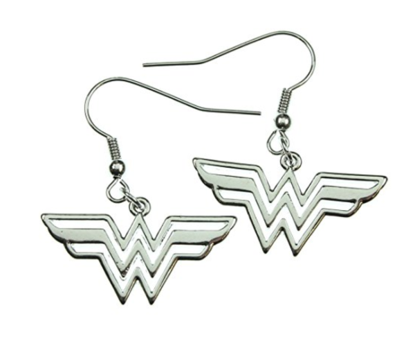 Simple Stainless Steel Wonder Woman Earrings