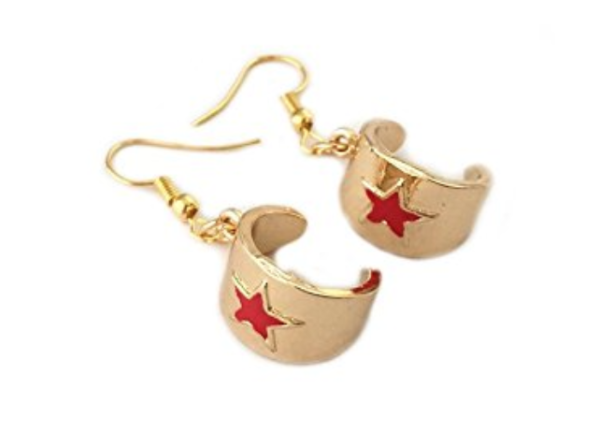 Wonder Woman Cuffs Earrings