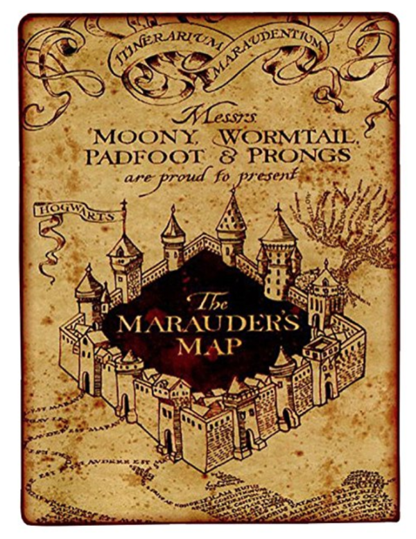 Marauder's Map Blanket