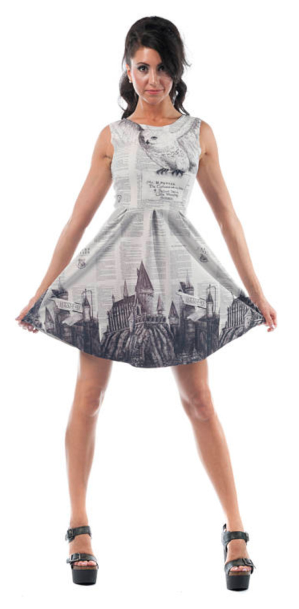 Harry Potter Book Print Dress
