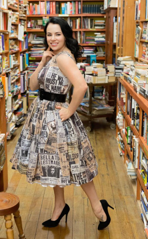 Harry Potter Newspaper dress