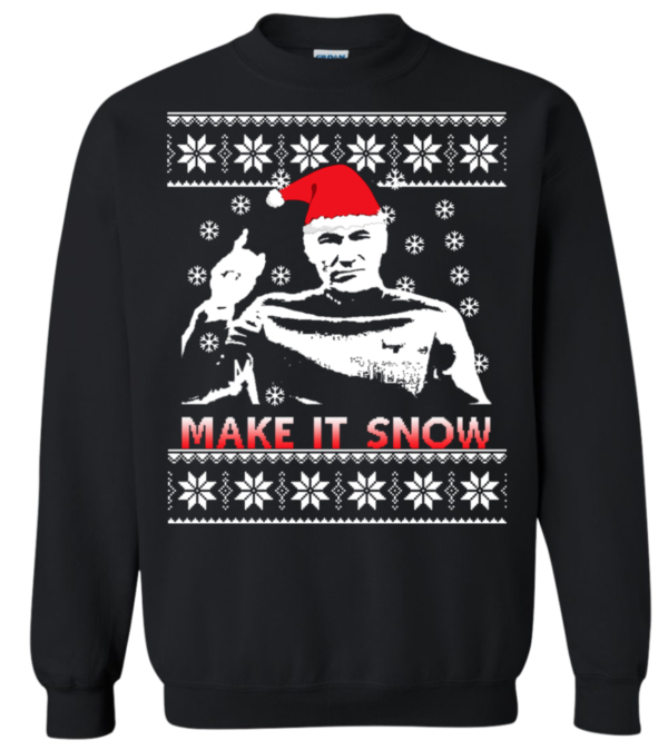 Make It Snow Ugly Star Trek Christmas Sweater