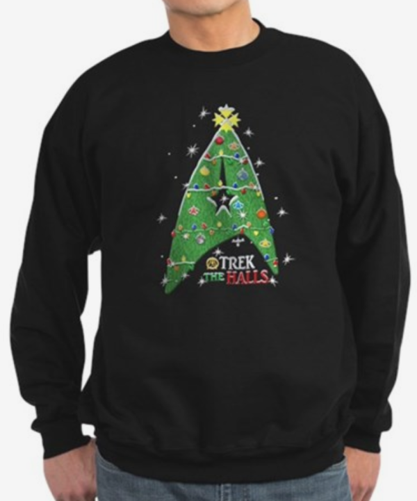 378bce3046e1e5 Trek The Halls Star Trek Christmas Sweater
