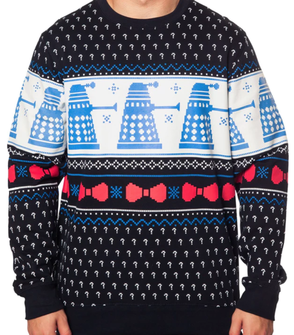 Daleks and Bow Ties Ugly Doctor Who Christmas Sweater