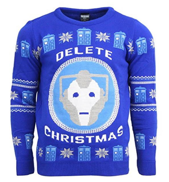 Delete Christmas Ugly Doctor Who Christmas Sweater