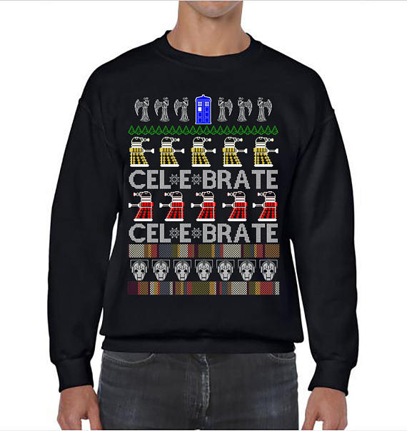 Celebrate Doctor Who Ugly Christmas Sweater