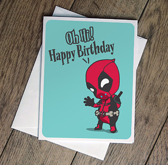 Deadpool Ate Your Cake Birthday Card