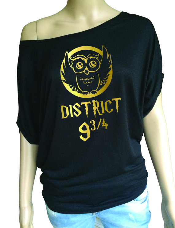 District 9 3/4 Hunger Games Harry Potter T-Shirt