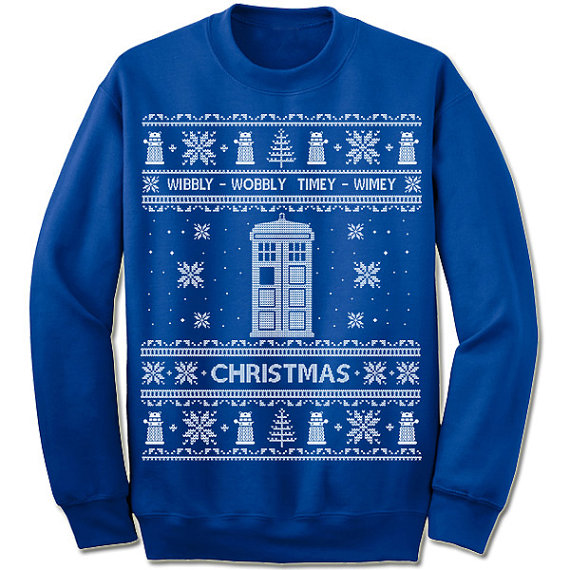 Wibbly Wobbly Timey Wimey Doctor Who Ugly Christmas Sweater
