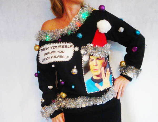 Ugliest Star Trek Christmas Sweater Ever
