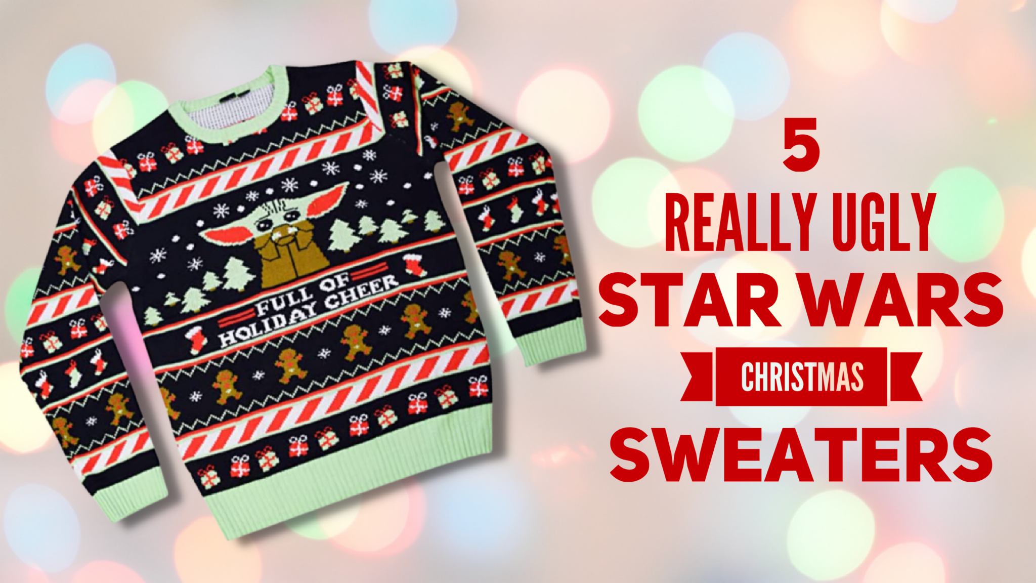 5 Really Ugly Star Wars Christmas Sweaters